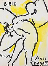 CHAGALL, MARC. Illustrations for the Bible. New York, 1956. Verve no. 33/34. With 28 original lithos.
