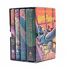 ROWLING, J.K. Four first American editions, first printings, from the Harry Potter series.