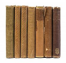 (LINCOLN, ABRAHAM) . 7 books owned and signed by John G. Nicolay, secretary to Abraham Lincoln, all with his manuscript ex-libris.