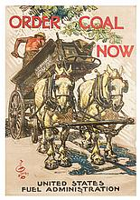 (WWI POSTERS, US) LEYENDECKER, JOSEPH. Order Coal Now. 1914-1918. Lithograph poster.