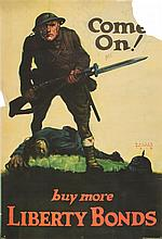 (WWI POSTERS, US) A group of seven WWI propaganda posters. 1917 - 1918.