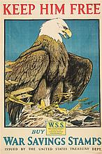 (WWI POSTERS) A group of seven WWI propaganda posters. 1917 - 1918.