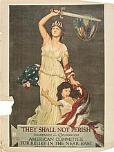 (WWI POSTERS) A group of six WWI propaganda posters. 1917 - 1918.