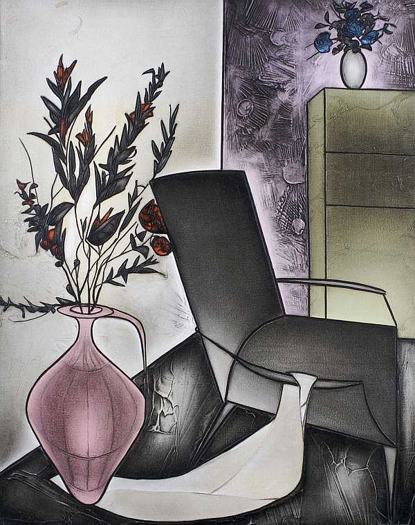 George Yatrides, (Greek, b. 1931), Still Life in Two Bunches