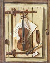 Artist Unknown, (20th Century), Still Life with Violin