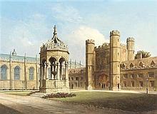 Victoria S. Colkett, (British, 19th/20th Century), Great Court, Trinity College, Cambridge