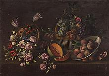 Artist Unknown, (Spanish, 20th Century), Still Life with Fruits and Flowers