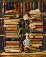 Artist Unknown, (Spanish, 20th Century), Still Lifes with Books and Tulips