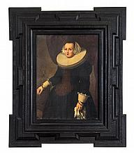 Artist Unknown, (Probably Dutch, 18th Century), Woman in a Large Ruff Collar, in a 17th/18th century Dutch frame