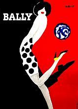 Bernard Villemot, (French, 1911-1989), Bally (Black and Red)