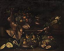 Artist Unknown, (Spanish, 19th century), Still Life with Game, Oysters and Fruit