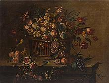 Artist Unknown, (Spanish, 19th century), Still Life of Basket of Flowers