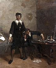 Amos Cassioli, (Italian, 1832-1891), The Argument