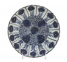 A Chinese Export Porcelain Plate, Diameter 8 1/2 inches.