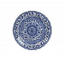 * A Chinese Blue and White Ceramic Charger, Diameter 14 3/4 inches.