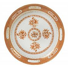 A Chinese Export Porcelain Plate, Diameter 10 5/8 inches.