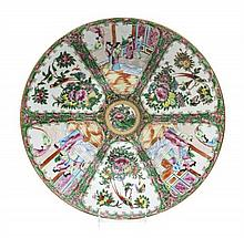 A Chinese Export Rose Medallion Porcelain Charger, Diameter 16 inches.