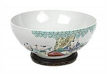 A Chinese Export Porcelain Bowl, Diameter 13 inches.