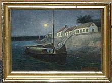 Edwin Willard Deming, (American, 1860-1942), Port Scene
