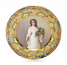 * A Royal Vienna Cabinet Plate Diameter 9 1/2 inches.