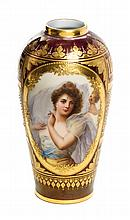 * A Royal Vienna Cabinet Vase Height 7 inches.