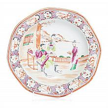 * A Chinese Export Porcelain Soup Plate Diameter 9 inches.
