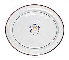 * A Chinese Export Porcelain Armorial Platter Width 20 1/4 inches.