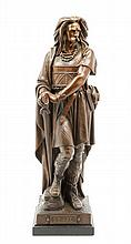 A French Bronze Figure of Vercingetorix Height overall 23 3/4 inches.