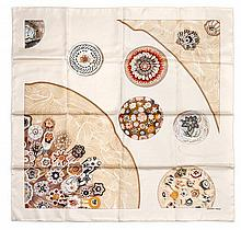 * An Hermes Silk Scarf, 35 x 35 inches.