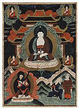 A Tibetan Thangka Height 24 x width 17 inches.