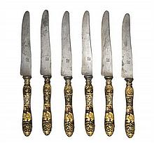A Set of Twelve Japanese Silver and Mixed-Metals Kozuka Knives, Second Half 19th Century, the handles decorated with silver, Japanese g