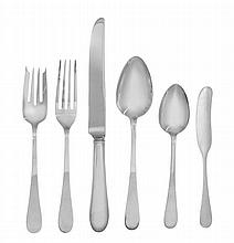 An American Silver Flatware Service, Tiffany & Co., New York, NY, Mid 20th Century, Salem Pattern, comprising: 12 lunch knives 12 lunch