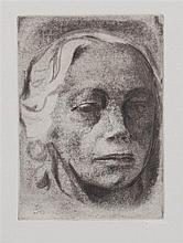 After Kathe Kollwitz, (German, 1867-1945), Self Portrait