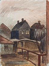 Otto F. Bielefeld, (Wisconsin, 1908-1982), Backyard