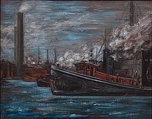 Helen Schadel Moynihan, (Wisconsin/Illinois, 1902-1994), The Tugboats
