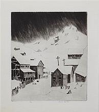 Lowell Stanley Bobleter, (American, 1902-1973), Mining Town
