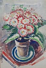Emily Parker Groom, (Wisconsin, 1876-1975), A Vase of Flowers (a double-sided work)