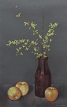 Doris Christoffel Wokurka, (Wisconsin, 1929-1986), Still Life with Apples and Forsythia