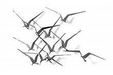 Curtis Jere, (American, 1917-2007), Black Seagulls, 1970