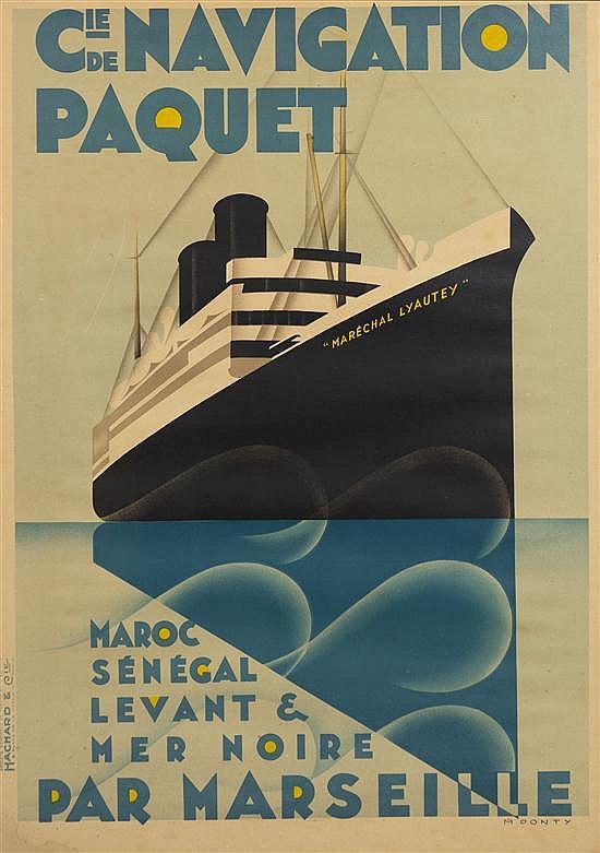 * Max Ponty, (French, 1904-1972), Cie de Navigation Paquet