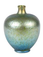 An American Studio Glass Vase Height 8 inches.