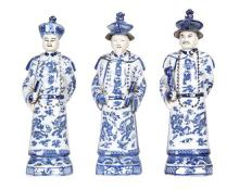 A Set of Six Chinese Export Porcelain Figures Height 17 7/8 inches (each).