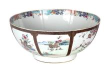 A Chinese Export Porcelain Punch Bowl Height 6 inches.