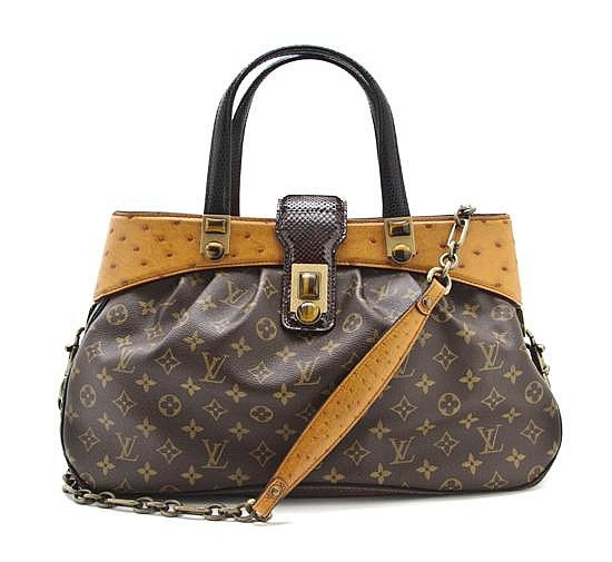 A Louis Vuitton Limited Edition Oskar Waltz Runway Bag, 17 x 11 x 6 1/2 inches.