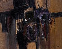 Claude Bentley, (American, 1915-1990), Abstract, 1968