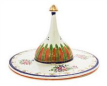 * A Chinese Export Porcelain Islamic Market Dish Cover Diameter 10 7/8 inches.