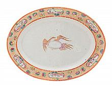 * A Chinese Export Porcelain American Market Oval Platter Length 11 3/8 inches.