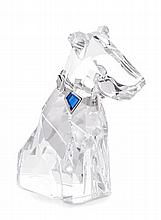 * A Swarovski Model of a Dog Height 4 1/2 inches.