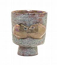 * Beatrice Wood, (American, 1893-1998), Footed vessel