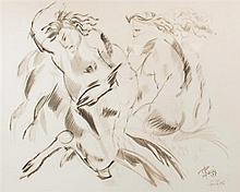* Edward Boccia, (American, 1921-2007), Lyric Battle, 1955